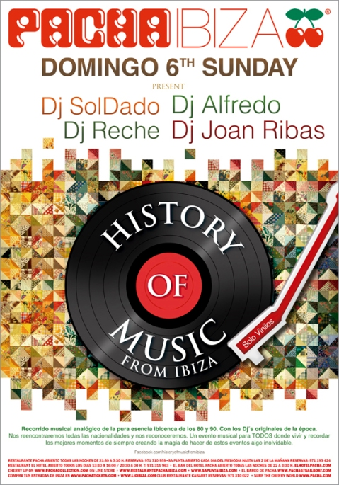 Pacha Ibiza History of Music from Ibiza Designed By Maximiliano Guzmán Wilkendorf