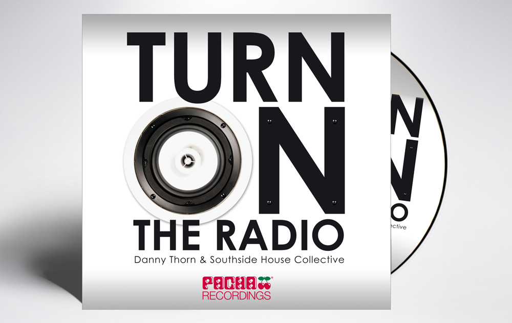 Pacha Recordings Turn on the Radio CD Coverart Designed By Maximiliano Guzmán Wilkendorf