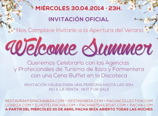 Pacha Ibiza Welcome Summer Invitation back Designed By Maximiliano Guzmán Wilkendorf