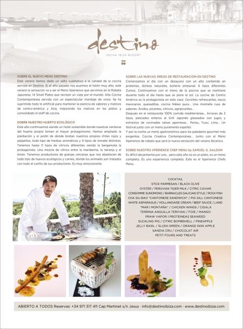 Destino Especial Gastronomia Designed By Maximiliano Guzmán Wilkendorf