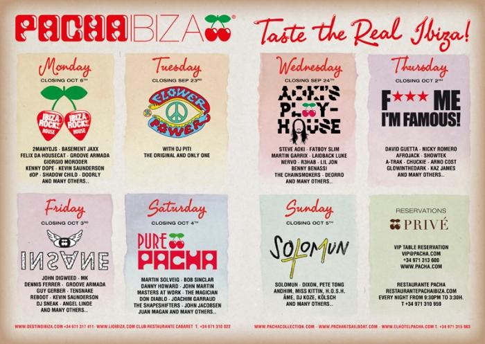 Pacha IbizaSummer Parties Advertising