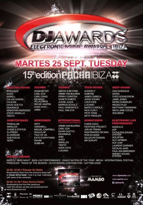 Dj Awards 2012 Poster