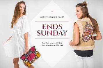 White Ibiza Advertising Adios Summer Sale! Ends Sunday Designed By Maximiliano Guzmán Wilkendorf