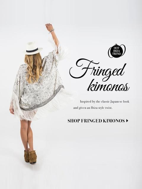 Hot Ibiza trend  - Fringed kimonos Designed By Maximiliano Guzmán Wilkendorf