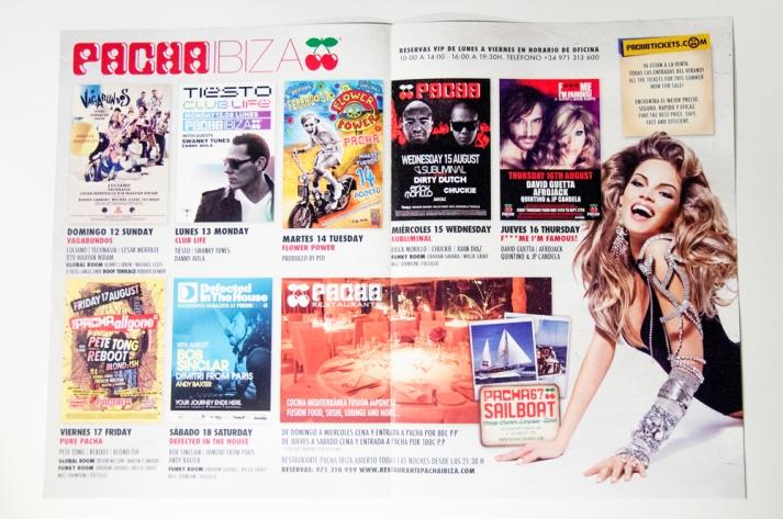 Pacha Ibiza Sunday Insert Diario de Ibiza Designed By Maximiliano Guzmán Wilkendorf