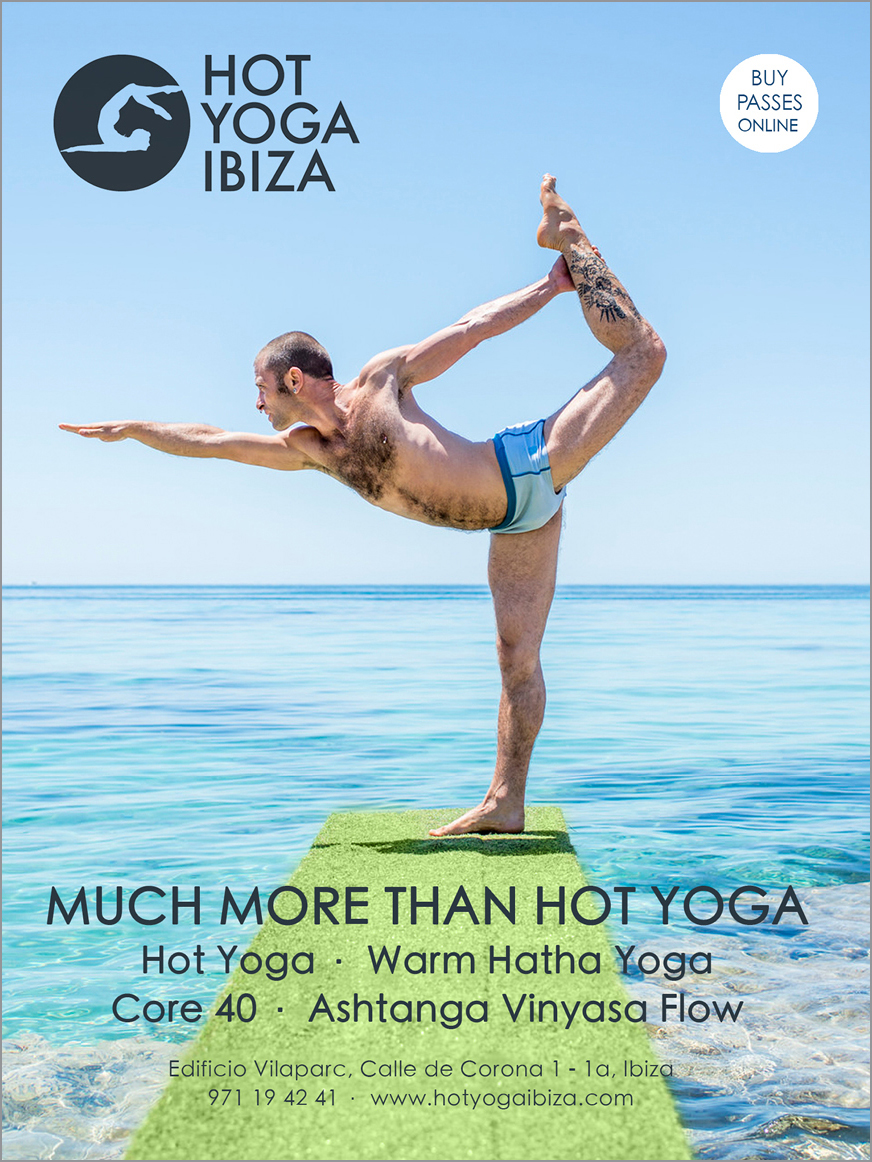 White Ibiza Wellness Advertising Hot Yoga Designed By Maximiliano Guzmán Wilkendorf