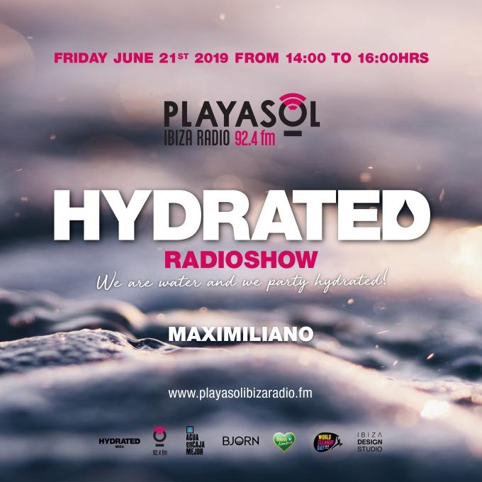 Hydrated Ibiza Facebook Flyer Playa Sol Radio 2306 Square 1500x1500px B